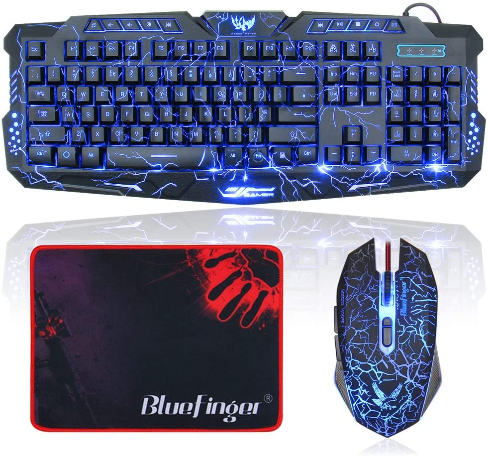 BlueFinger Mechanical Gaming Keyboard with Mouse