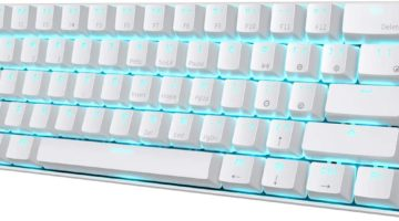 RK61 60% White Mechanical Gaming Keyboard