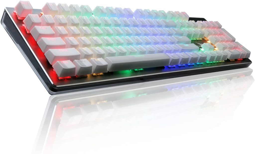 Rottay RGB White Mechanical Gaming Keyboard